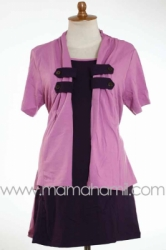 baju menyusui kancing lokal pink   SD 182  large